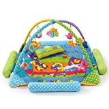 NWYJR Bambino di attività palestra attività colorato appeso giocattoli Crawl-tappeto gioco palestra musica tappeto gioco , blue immagine