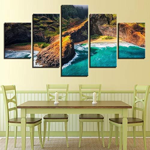 mmwin https://ae01.alicdn.com/kf/HTB1oKvbXwr5ZeJjSZFqq6zfvVXa5/-HD-Printed-s-Wall-Art-Poster-Home-Decoration-5-Panel-Kauai-Hawaii-Landscape-Living-Room.JPG.JPG