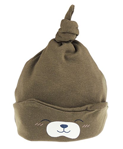 Mädchen und Jungen im Teddy Bär-Design, Beanie für Neugeborene bis 24 Monate, braun ()