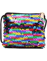 510cfcce1b01 Childplaymate Sequins Coin Purse Wallet Kids Girls Handbags Shoulder Zipper  Clutch Bags