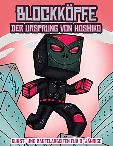 Kunst- und Bastelarbeiten für 8-Jährige (Blockköpfe - Der Ursprung von Hoshiko): Dieses Blockköpfe Papier -Bastelbuch für Kinder kommt mit 3 speziell ... 4 zufälligen Charakteren und 1 Schwebeboard