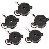 5pcs DC 3–24V Piezo electrónico Zumbador piezoeléctrico de tono continuo activo alarma