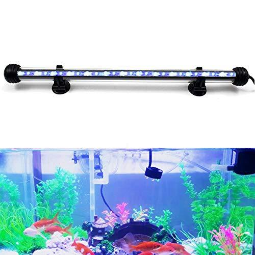 DOCEAN 4,8W 38cm LED Aquarium Beleuchtung Aquarium Lampe Aquariumleuchte IP68 Wasserdicht Unterwasserleuchte, Weiß + Blau Licht (60 Aquarium Led-licht)