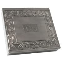 Old Dutch Pewter 12 Compartment Tea Bag Storage Box