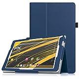Fintie TrekStor SurfTab xintron i 10.1 Hülle Case - Slim Fit Folio Kunstleder Schutzhülle Cover Tasche mit Ständerfunktion für TrekStor SurfTab xintron i 10.1 (25,7 cm (10,1 Zoll) wi-fi Tablet (nicht geeignet für TrekStor SurfTab xintron i 10.1 3G Tablet)t, Marineblau
