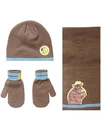 83c9b610f0e5 Boys The Gruffalo Winter Beanie Hat Scarf Mittens Set Age 2-3 Years Brown