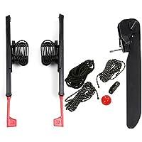 Lixada 2 Unids Adjustable Lock Kayak Foot Braces Pedales con Tail Rudder Foot Control Dirección Sistema de Dirección Kit de Herramientas