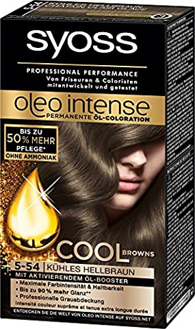 Syoss Oleo Intense Permanente Öl-Coloration 5-54 Kühles Hellbraun Stufe 3,