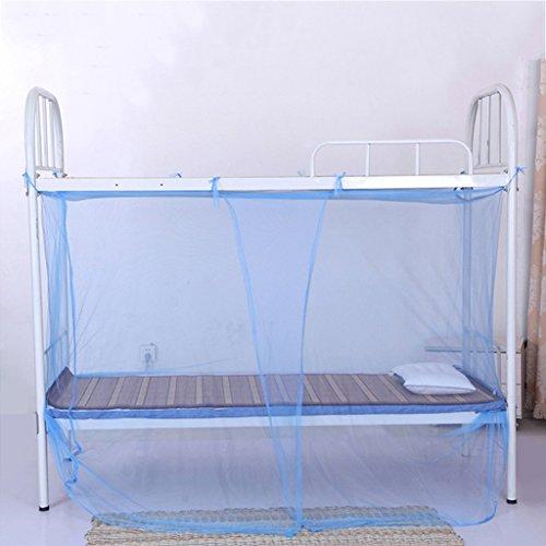 Wlhw zanzariere studenti della scuola dormitorio letto a castello protezione antizanzare rete letto singolo extra denso tenda rete insetto una pluralità di dimensioni del colore (colore : blu)