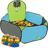 LittleTom Piscine à Boules Pop-up pour Jouer au Basket 120x100cm INCL 200 Boules