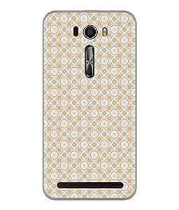 PrintVisa Designer Back Case Cover for Asus Zenfone Selfie ZD551KL (Circle Star Dotted Printed Square Wallpaper Decorative)