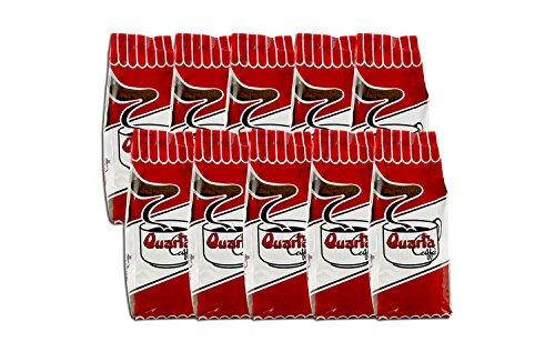 Caffè Quarta La Rossa macinato. N. 10 confezioni da 250 g. Caffè italiano pugliese salentino prodotto e confezionato in Salento....