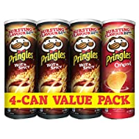 Pringles Flavored Chips 165gm x 4, (Hot and Spicy x 3 , Original x 1)