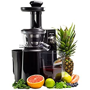 Amazon.de: Andrew James - Professioneller Slow Juicer Entsafter in Schwarz - Mit ruhigem, 400 ...