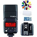 Godox Thinklite TT350S 2.4G HSS 1/8000s TTL II GN60 Cámara Flash Speedlite + X1T-S Tranmisor+Flash Difusor Softbox para Sony RX1R II A7 A7R A7S A7 II A7R II A7S II A6300 A6000 DSLR Cámara