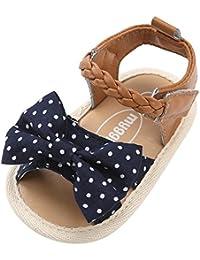 Topgrowth Sandali Bambina Primigi Ragazza Scarpe da Culla Neonato Fiore Suola Morbida Anti Scivolo Sneakers (13, Nero)