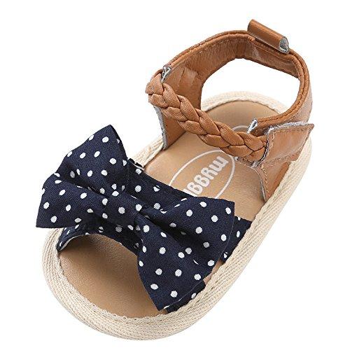 Topgrowth scarpe bambino sandali intrecciati scarpe casual fiocco suola morbida sneaker antiscivolo sandali bambini primigi (12, marina militare)