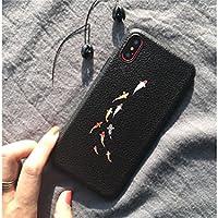 Preisvergleich für OVVO Einzigartiges Desigh Kreative Tier Fisch Muster Telefon Fall Relief Liebhaber Soft Phone Shell für iPhone X (Cluster von Fisch)