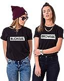 Sister Shirts Best Friends T-Shirts für 2 Mädchen Blondie Brownie T-Shirt Damen Tops Sommer Oberteil 2 Stücke BFF Geschenke