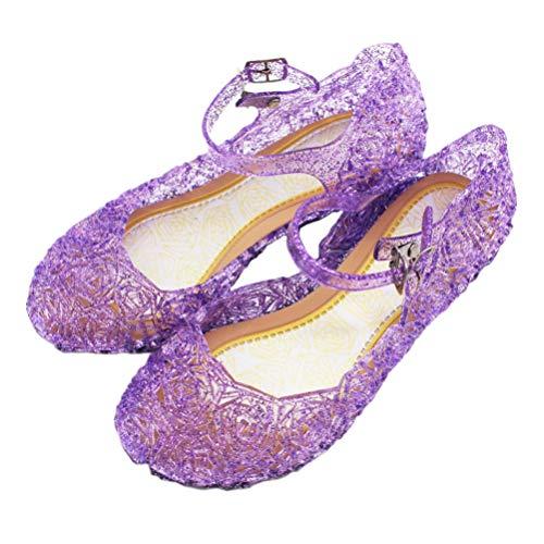 Fenical Prinzessin gelee Sandalen königin Mary Janes Dress up Dance Party Cosplay weiche Schuhe für kleine Kinder mädchen Kleinkind 33 (Belle Dance Kostüm)