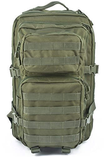 Mil-Tec Military Army Patrol Molle Assault Pack Tactical Combat Rucksack Backpack Bag 36L Olive Green by Miltec