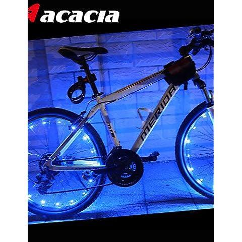 luce della rotella della bici, led acacia ciclismo bicicletta pneumatico segnale impermeabile spoke brillantatura lampada filo del flash ,