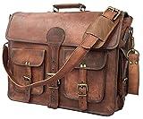 18' Urbankrafted beautiful Vintage Crazy Horse leather handmade laptop shoulder messenger bag