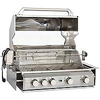 Mayer Barbecue ZUNDA Einbau-Gasgrill MGG-240 für Outdoorküchen