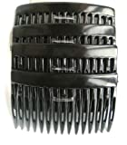 Shropshire Supplies 7cm Side Combs Hair Combs Pack of 4 - Black