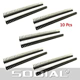 SODIAL(R) 10 St¨¹ck 2x40 Pin 2,54 mm Pitch zweireihig PCB Stiftleistenn