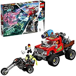 LEGO - Hidden Side Camión Acrobático de El Fuego Juguete de construcción con realidad aumentada, incluye coche todoterreno y motocicleta, Novedad 2019 (70421)
