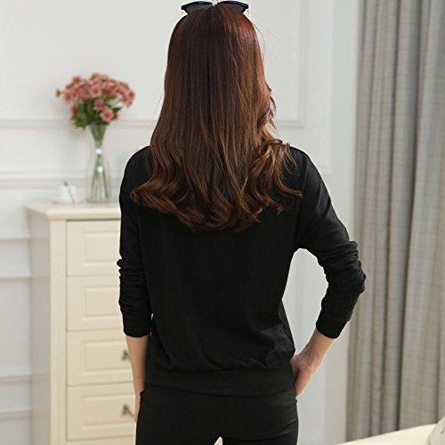 Culater® 1PC Femmes Casual Manches Chauve-souris T-shirt Tops Blouse Noir
