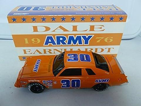Action 1976 Dale Earnhardt Chevy Malibu #30 Army Black Window Bank 1:24