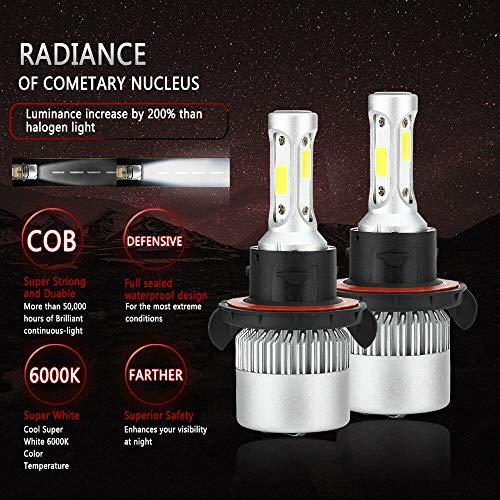 FidgetKute H13 9008 200W 20000LM LED Faro Kit lampadine anabbaglianti/anabbaglianti COB 6000K-6500K Auto