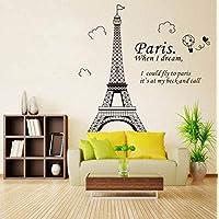 Romantic Paris Eiffel Tower DIY Wall Stickers WallpaperArt Decor Mural Room Decal