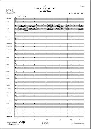 Descargar Libro PARTITURA CLASICA - 1244 - La Quête du Bien - G. ARCENS - Wind Band de Unknown