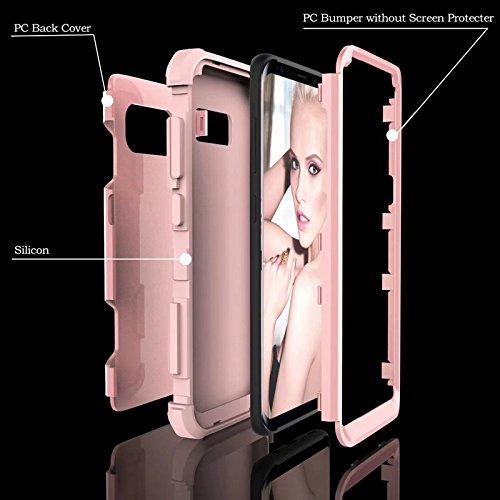 YHUISEN Galaxy S8 Fall, Stoßdämpfung Drei-Schicht-Rüstung Defender [Heavy Duty] Robuste Hybrid-Schutzhülle für Samsung Galaxy S8 ( Color : Black ) Rose Gold