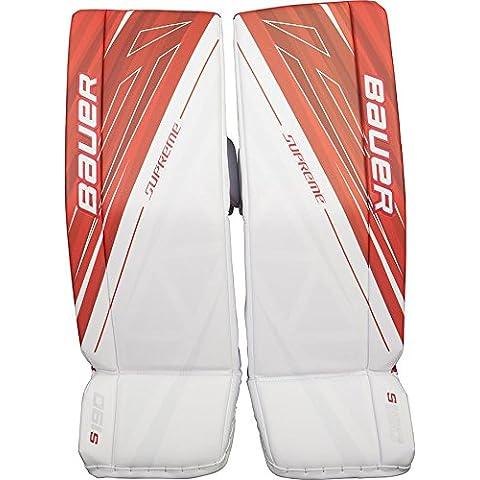 Bauer Supreme S190 Goalie Leg Pads Intermediate, size:L;color:white