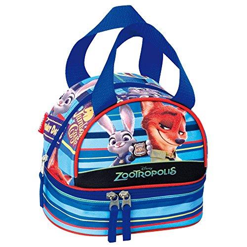 Disney Pixar Zootropolis Badge scuola Lunch Bag (Blu)