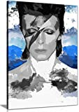 David Bowie Pop Art Leinwand Kunstdruck Bild, A2 61x41 cm (24x16in)