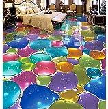 3D Tapete Bodenbelag Wasserdichte Selbstklebende Wandbilder Bunte Bodenmalerei-Hintergrundwand Des Kunstglases Mehrfarbige 450X300cm
