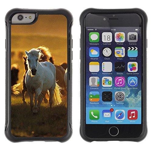 Graphic4You Pferd Tier Design Shockproof Anti-Rutsch Weichen Hülle Case Tasche Schutzhülle für Apple iPhone 6 Plus / 6S Plus Design #5