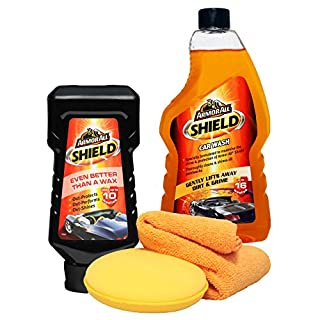 Armorall Shield Car Shampoo + Wax Polish Cloth & Pad Set