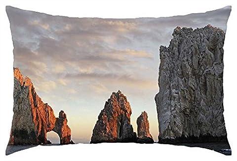iRocket - wonderful coastal boulders - Throw Pillow Cover (24