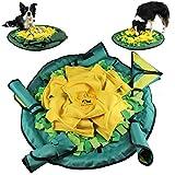 KaraLuna Großer Schnüffelteppich mit 5 Puzzles, ca. 76 cm Durchmesser I Nasenarbeit und Intelligenzspielzeug für große und kleine Vierbeiner
