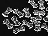 Aufnähteile und Motive aus Acryl / Kunststoff von Star Bright / Schleife, 10.0 x 19.0mm, Crystal, 100 Stück