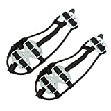 Generic 1 Pair New Anti-slip Snow Shoes Climbing on Ice Crampon Peaks Grips Cover-Medium
