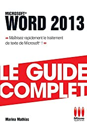 GUIDE COMPLET£WORD 2013