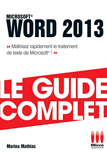 GUIDE COMPLET WORD 2013