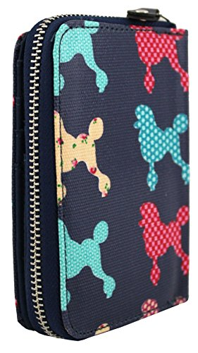 Kukubird nuove ragazze / Signore medie Chihuahua Poodle Pattern pelle portafoglio Beige